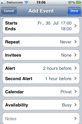 iOS 4.1 beta 2 calendar invites