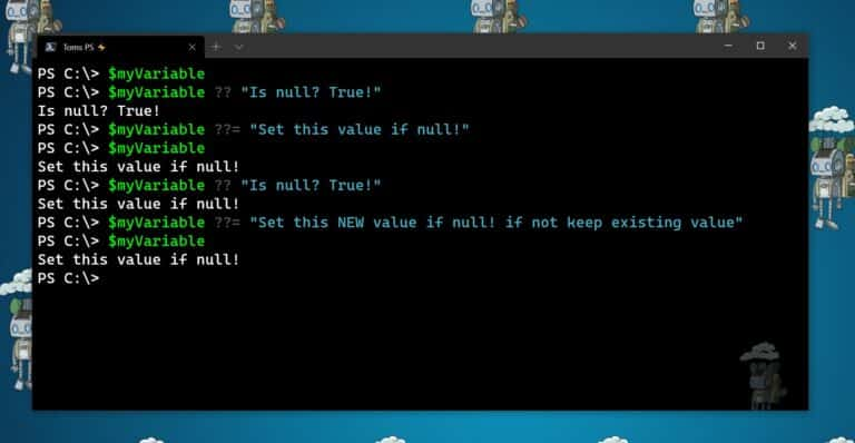 PowerShell 7 Null conditional operators