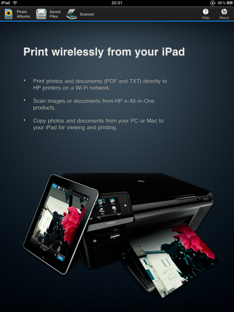 Here you can find a list of printers which are supported with HP iPrint 3.0: