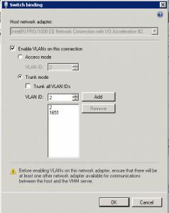 Hyper-V SCVMM VLAN Trunk
