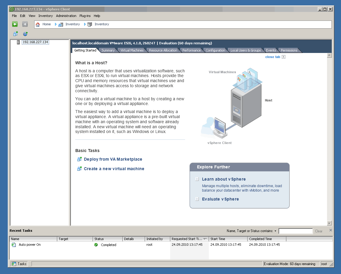 Activate SSH on ESXi 4 1 via vSphere Client - Thomas Maurer