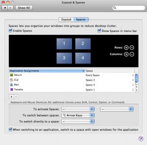 Mac OS X Spaces