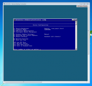 sconfig Windows Server 2008 R2