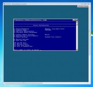 sconfig Windows Server 2008 R2
