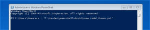 Powershell iTunes