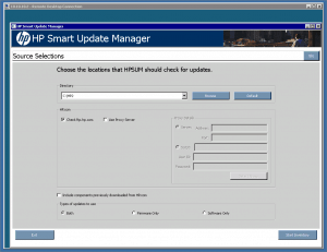 HP Smart Update Manager on Hyper-V Core Server