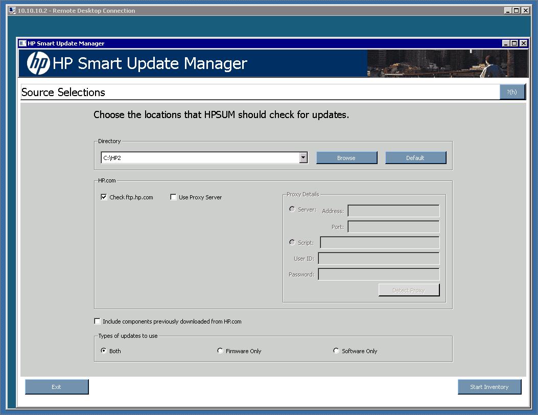 Install HP Support Pack on Hyper-V R2 Core Server - Thomas