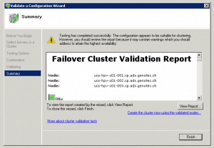 Microsoft Hyper-V 2008 R2 Failover Cluster