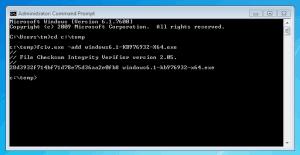 File Checksum Integrity Verifier