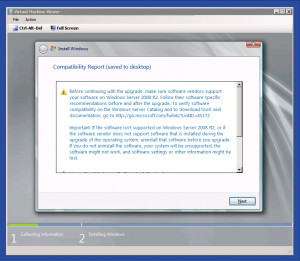 Windows Server 2008 R2 Upgrade