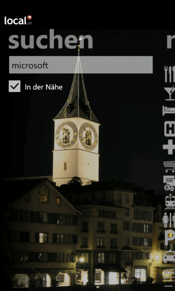 local.ch Windows Phone 7