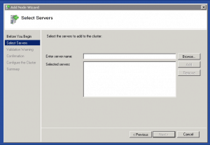 Add Failover Cluster Node