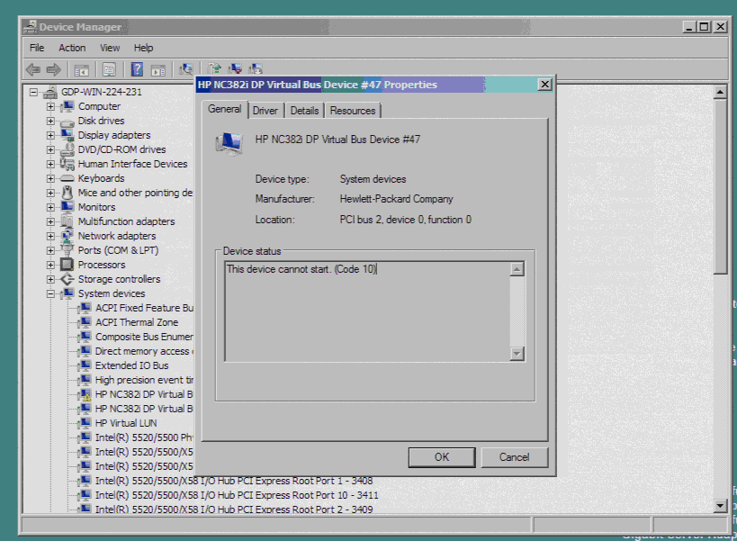 HP Network Interface does not start  - Thomas Maurer