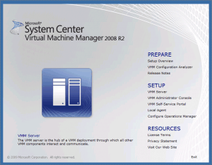 System Center Virtual Machine Manager 2008 R2 SP1