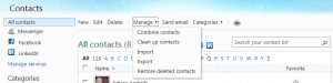 Windows Live Contacts