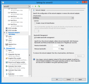 Bandwidth Management Windows Server 8 Hyper-V