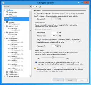 Dynamic Memory Windows Server 8