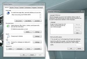 IE language setting
