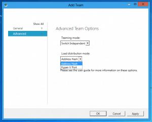 Windows Server 8 NIC Teaming