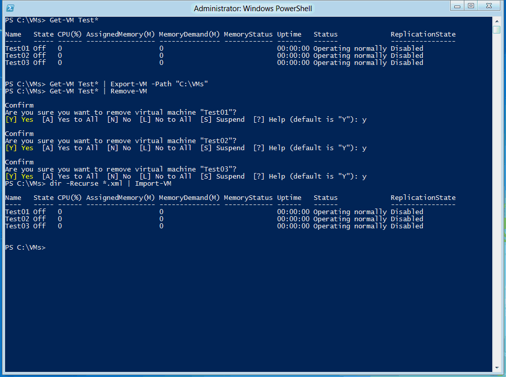 Hyper-V 3: Import and Export VMs with PowerShell - Thomas Maurer