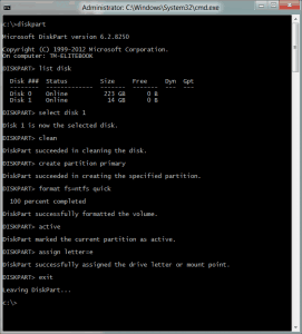 WindowsToGo05 Diskpart