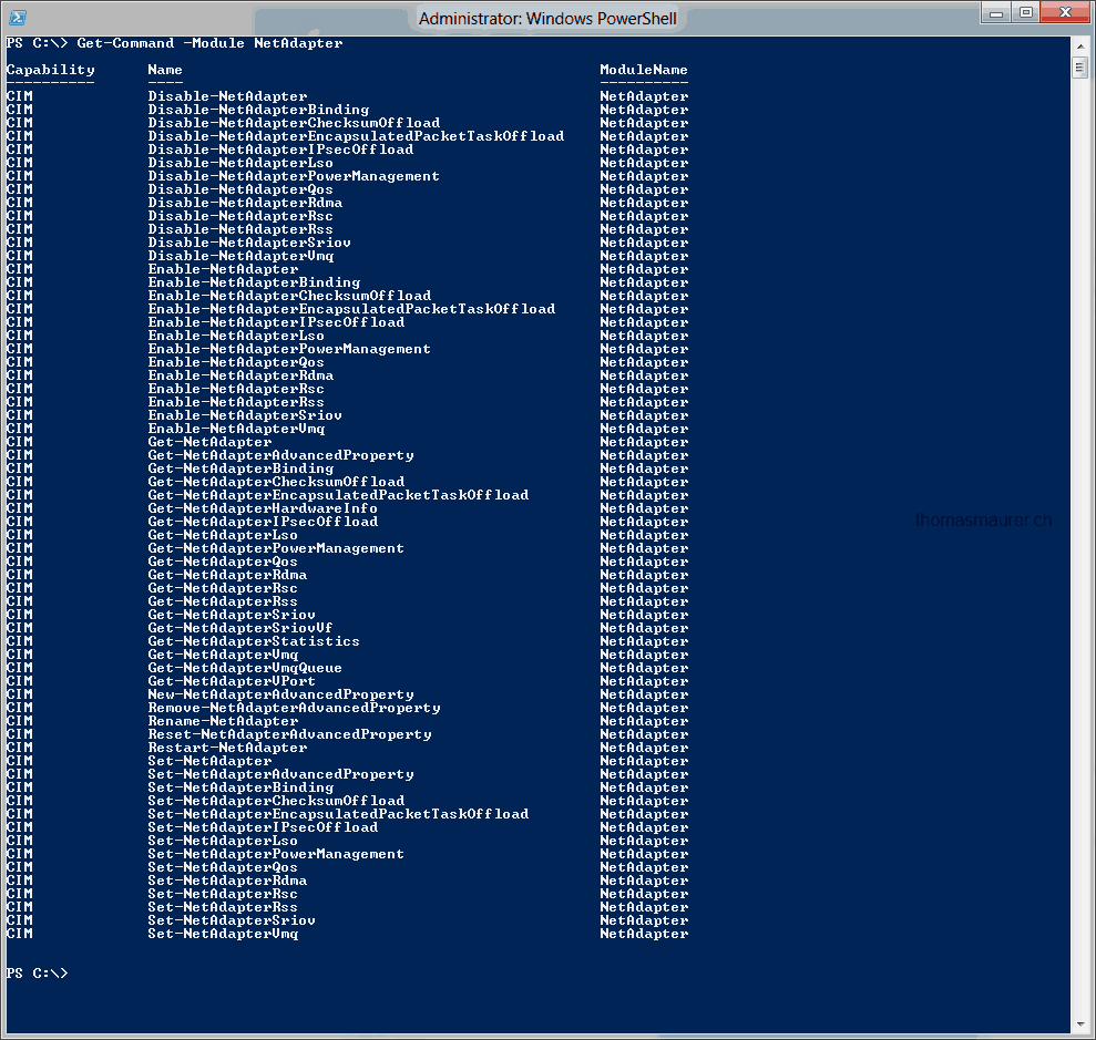 Replace netsh with Windows PowerShell - Basic network