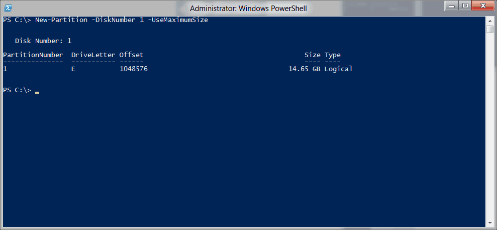 Replace Diskpart with Windows PowerShell - Basic Storage