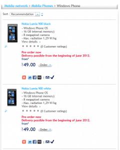 Nokia Lumia 900 Swisscom Pre-Order