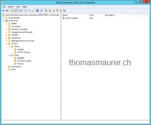 SC2012 Installer Account