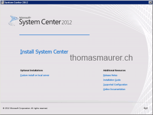 System Center Unified Installer Setup