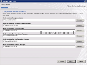 System Center Unified Installer component location