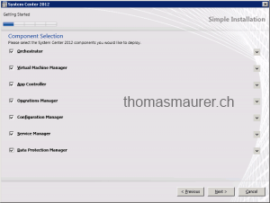 System Center Unified Installer parts