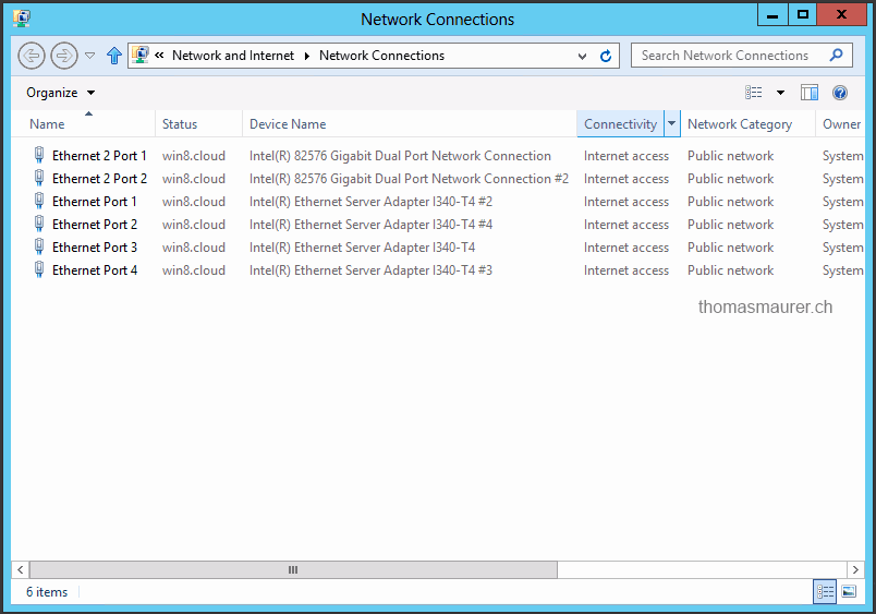 Windows Server 2012 NICs