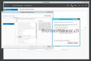 Add Hyper-V role Server Manager