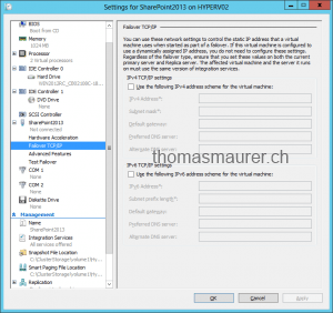 Hyper-V Replica inject Failover IP Address