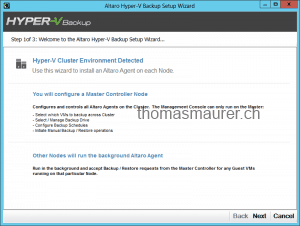 Altaro Hyper-V Backup Cluster Installation