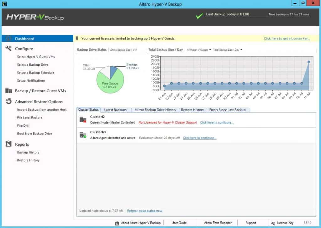 Altaro Windows Server 2012 Hyper-V Backup