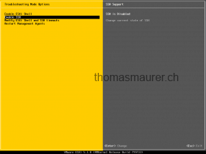 VMware ESXi 5.1 enable SSH