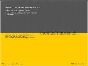 VMware ESXi 5.1 startscreen