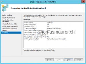 Enable VM Replication Replica Overview