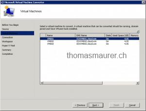 Microsoft Virtual Machine Converter Source VMs