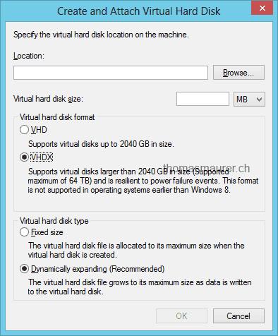 Windows Server 2012 Hyper-V: Virtual Disk VHD & VHDX