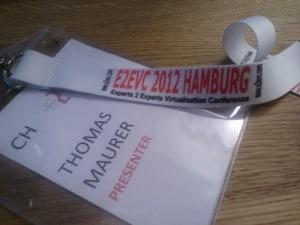 E2EVC 2012 Hamburg