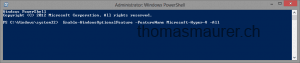 Windows 8 Hyper-V Feature PowerShell