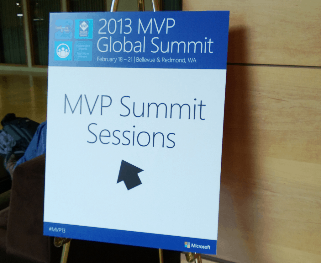 Microsoft MVP Summit Sessions