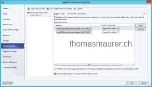SCVMM Logical Switch Hyper-V Host Teaming