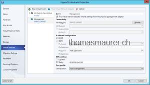 SCVMM Logical Switch Hyper-V Host vNIC Management