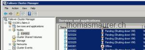 Failover Cluster Migration shutdown VMS