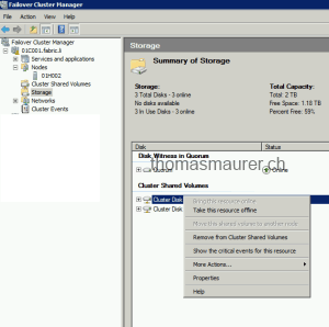 Failover Cluster Migration take CSV offline