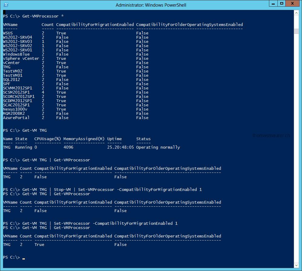 Windows Server 2012 Hyper-V: Configure VM Processor